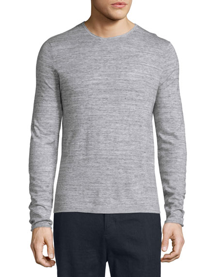 Vince Jaspe Long-Sleeve Sporty T-Shirt, Heathered Mist