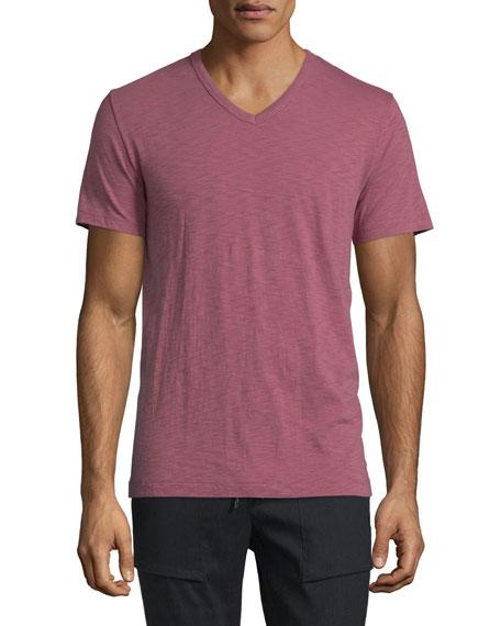 Vince Short-Sleeve V-Neck T-Shirt, Currant