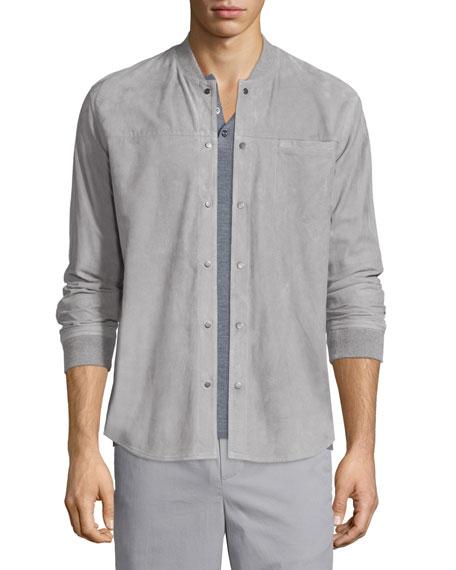 henley shirt under button down