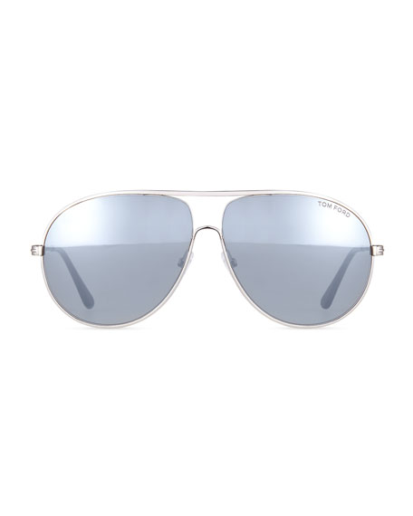 Cliff Light Ruthenium Aviator Sunglasses, Silver