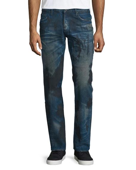 PRPS Barracuda Dirty-Wash Denim Jeans, Blue