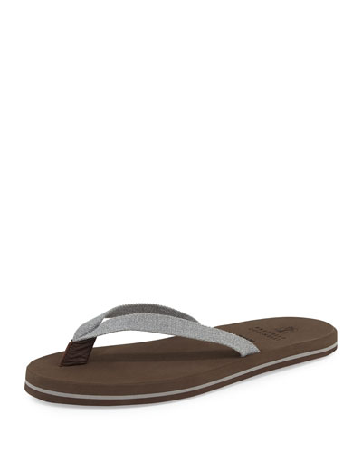 Canvas Thong Sandal, Gray