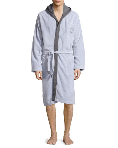Terry Cloth Cotton Spa Robe, Gray