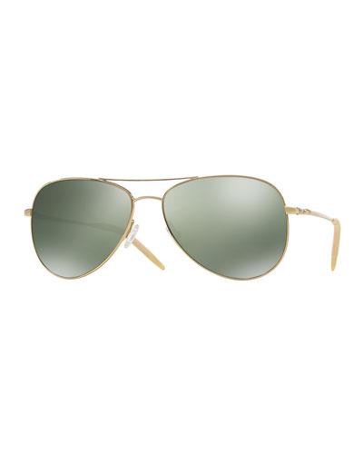 Kannon 59 Polarized Sunglasses, Golden