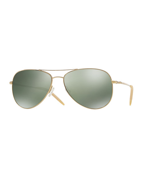 Oliver Peoples Kannon 59 Polarized Sunglasses, Golden