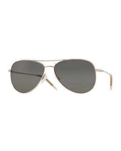 Kannon 59 Polarized Sunglasses, Silver