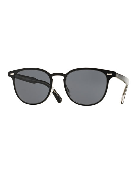 Oliver Peoples Sheldrake 54 Metal Sunglasses, Black
