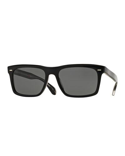 Brodsky 55 VFX+ Polarized Sunglasses, Black