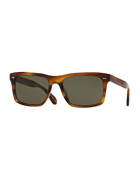 Oliver PeoplesBrodsky VFX+ Polarized Sunglasses, Brown