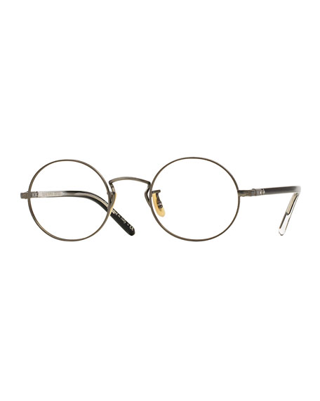 Oliver Peoples Overstreet 46 Round Fashion Glasses, Pewter