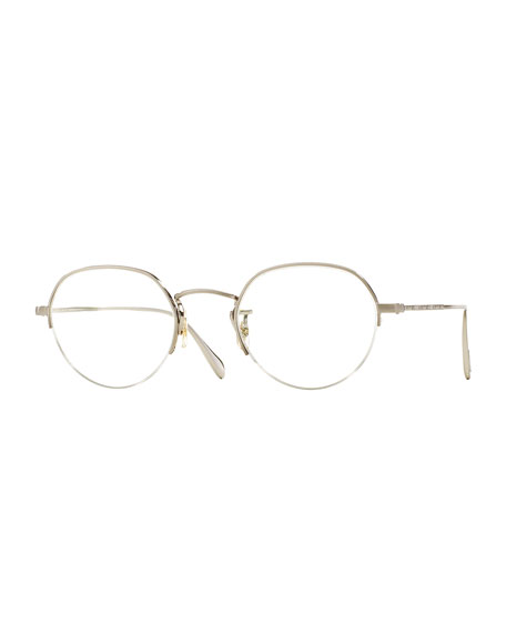 Roland 47 Round Fashion Glasses, Brushed Silver