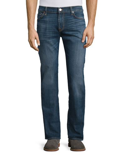 Standard-Fit Medium Blue Denim Jeans, Riptide