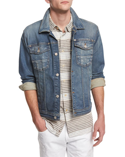 Trucker Light Wash Jean Jacket, Light Wash