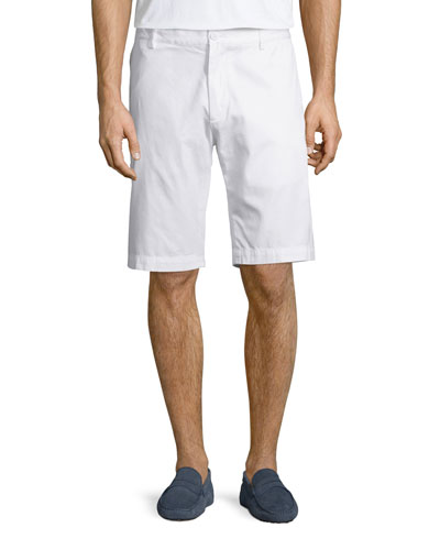 Classic Bermuda Shorts, White