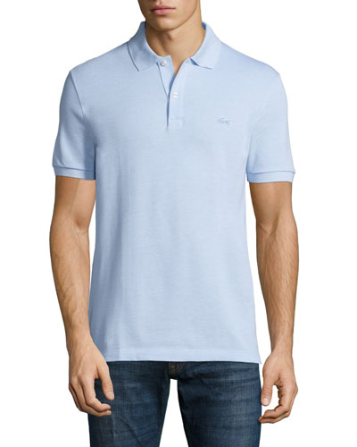 Birdseye Short-Sleeve Pique Polo Shirt, Nattier Blue