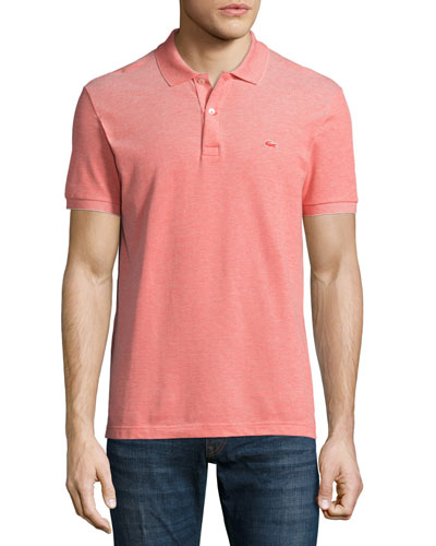Birdseye Short-Sleeve Pique Polo Shirt, Etna Red/Flour
