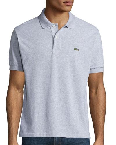 Classic Pique Polo Shirt, Silver Chine
