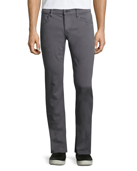 Hudson Jeans Blake Bishop Slim-Straight Jeans, Medium Gray