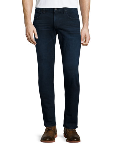 Blake Solstice Slim-Straight Denim Jeans, Dark Blue