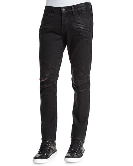 Hudson Jeans Blinder Biker Astral Distressed Moto Jeans,