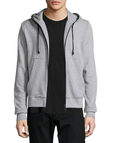 Hudson Jeans Reed Inversion Hoodie, Light Gray