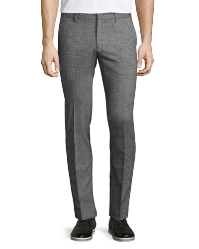 Zaine F Penvry Twill Trousers, Medium Gray