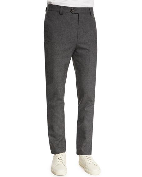 Brunello Cucinelli Plaid Linen-Blend Two-Button Blazer,
