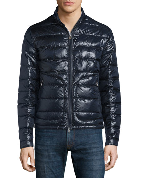 Moncler Acorus Zip-Up Puffer Jacket, Navy