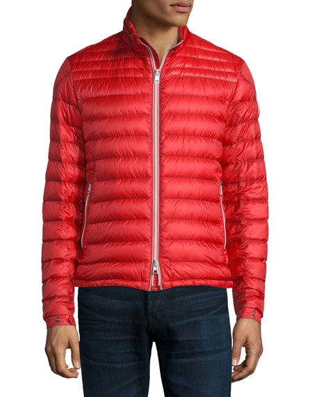 Moncler Daniel Quilted Puffer Jacket & Tipped Short-Sleeve