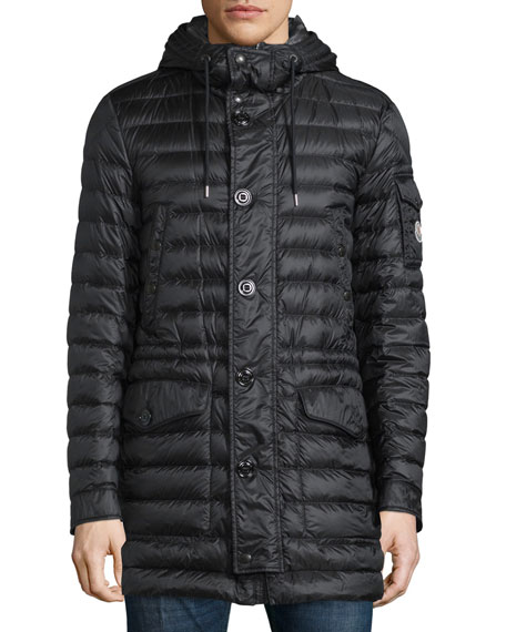 MonclerBenjamin Quilted Long Puffer Coat, Black