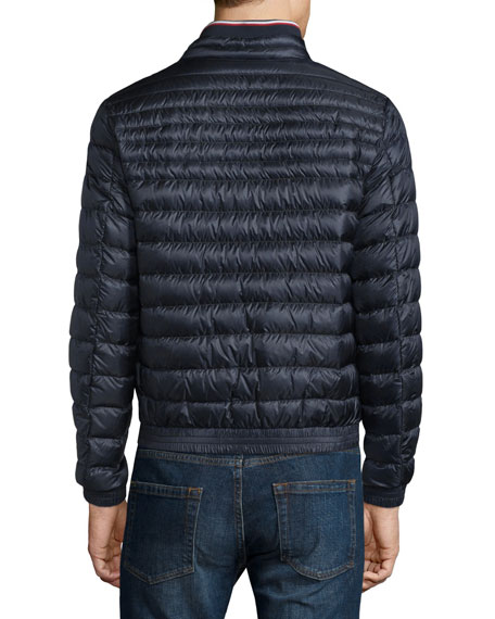 moncler garin quilted down jacket black