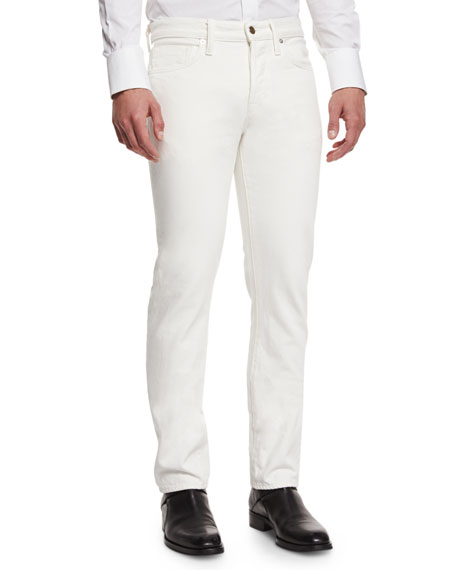 TOM FORD Straight-Fit Denim Jeans, White