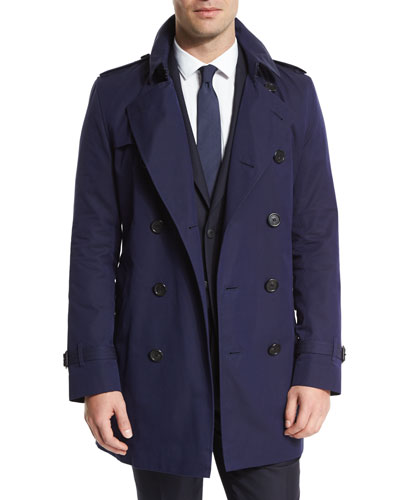 Double-Breasted Trenchcoat, Cobalt