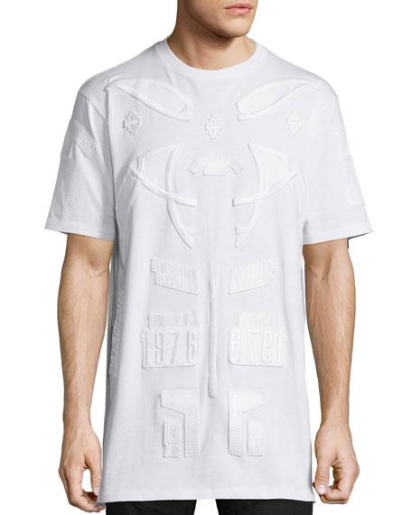 Marcelo BurlonTonal Patches Short-Sleeve T-Shirt, White