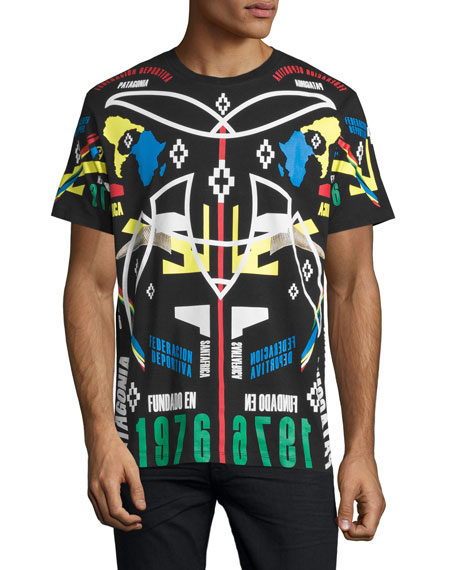Marcelo Burlon Tribal Graphic T-Shirt, Black