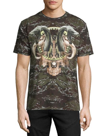 Marcelo Burlon Camo Snake Graphic T-Shirt, Green