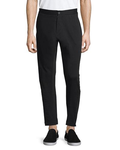 Tailored Slim-Fit Sweatpants, Black