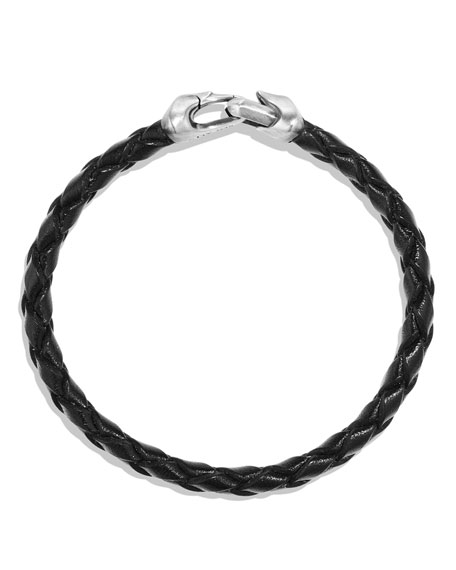 Armory Men's Woven Leather Bracelet