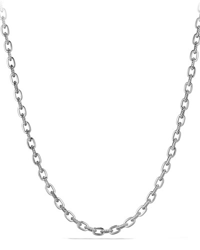 Men's Classic Cable & Link Chain Necklace, 26