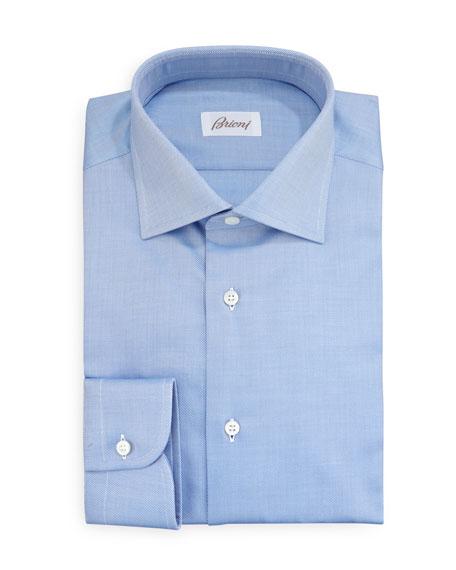Diagonal Twill Dress Shirt, Blue