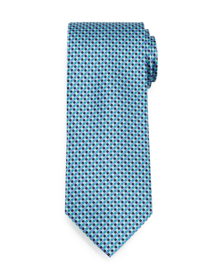 Lattice-Diamond Silk Tie