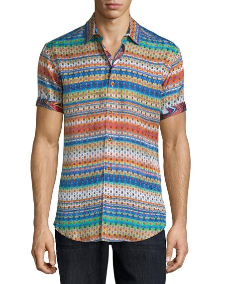 Robert Graham Multi-Print Short-Sleeve Sport Shirt, Multi
