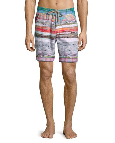 Multi-Print Swim Trunks, Multi Colors