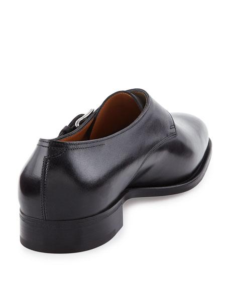 Ashill Single-Monk Leather Shoe, Black