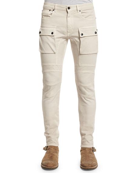 Belstaff Felmore Slim-Fit Cargo Pants, Pale Stone