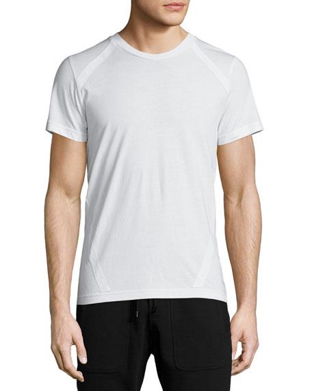 Belstaff Trevyn Tape-Trim Crewneck T-Shirt, White