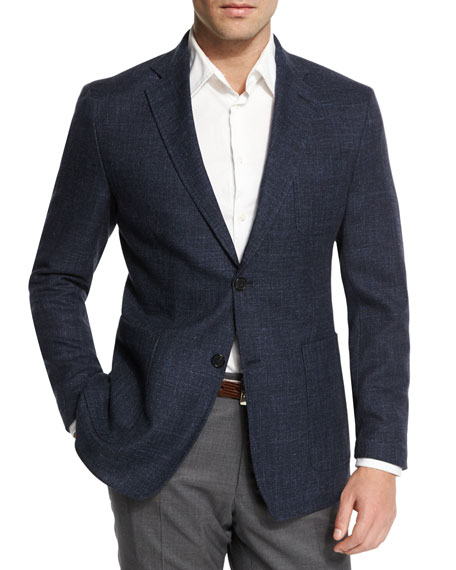 Billy Reid Rustin Textured Wool-Blend Sport Coat, Navy