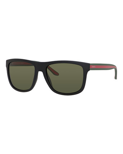 Injected Square-Frame Sunglasses