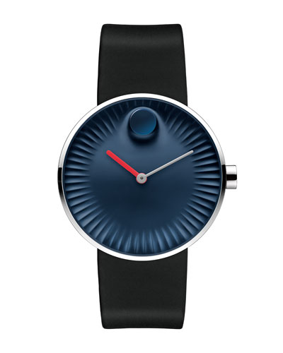 40mm Edge Watch with Rubber Strap, Navy