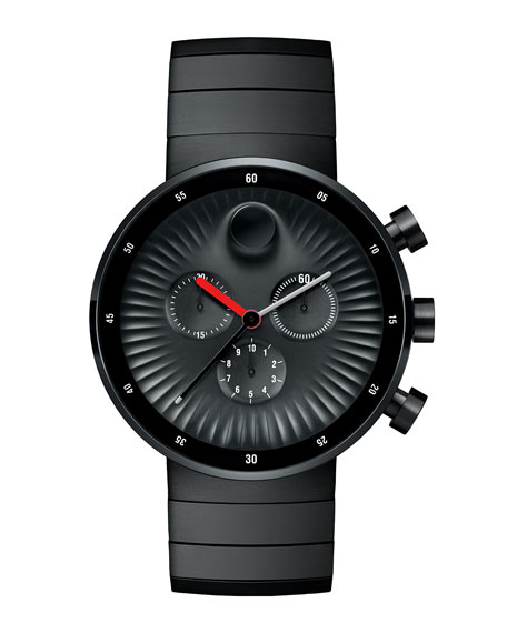 42mm Edge Chronograph Watch, Black